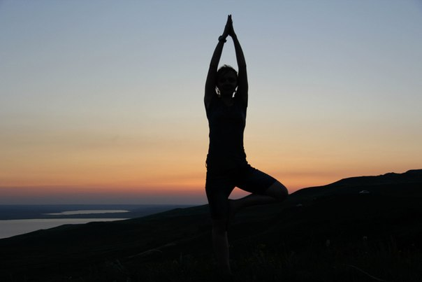 yoga, girl, alone, cute, nature