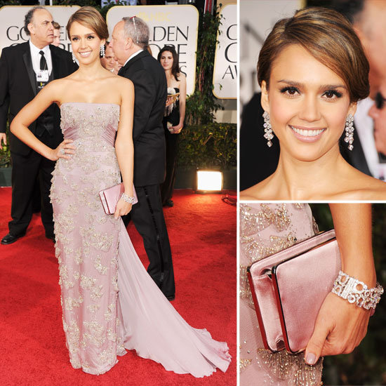 2012, blush, golden globes, gucci, jessica alba