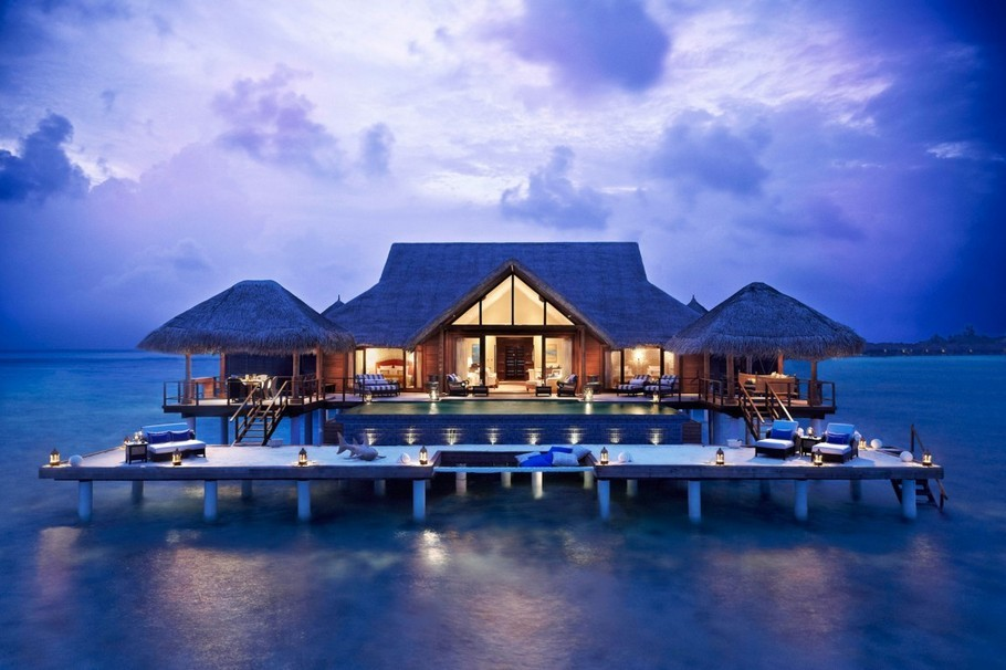 5 star, beautiful, clear blue, island resort, luxury