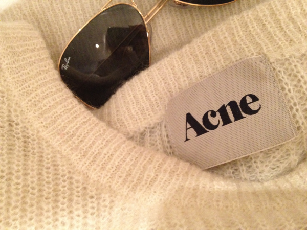 acne, ray ban, sweater