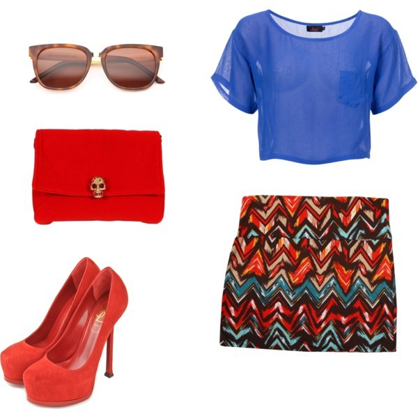 alexander mcqueen, blue, cute, fashion, girl, glass, night, orange, red, style, ysl