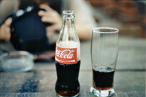 alone, coca-cola, coke, drink, moment, vintage