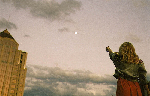 amazing, film, girl, moon, sky
