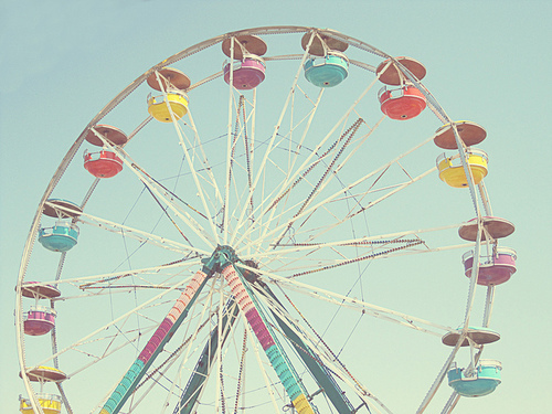 amusement park, blue, carnival, colorful, ferris wheel