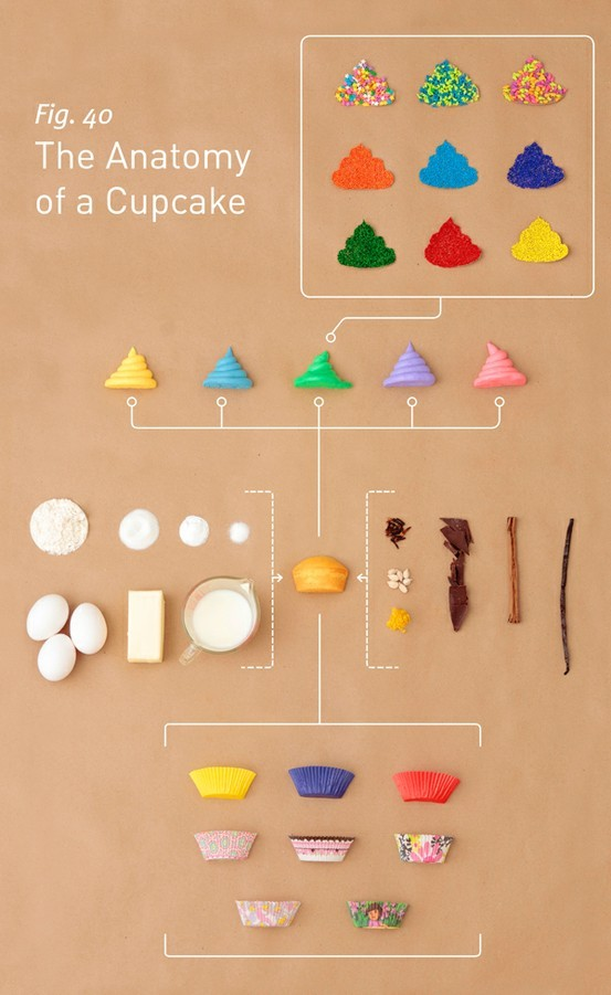 anatomy, colours, cupcake, food