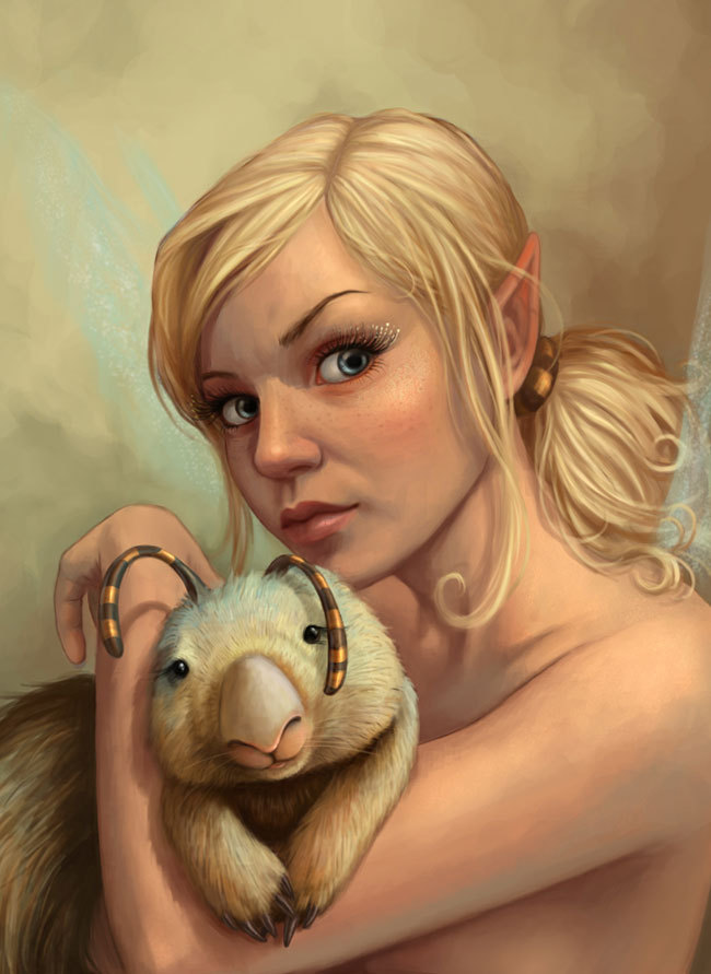 animal, art, blonde, blue eyes, daniela uhlig