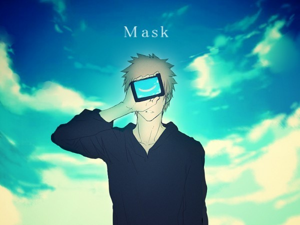 anime, art, bleach, blue, guy