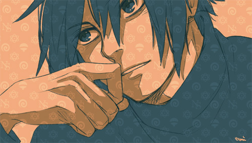 anime, boy, draw, love, manga, naruto, sasuke