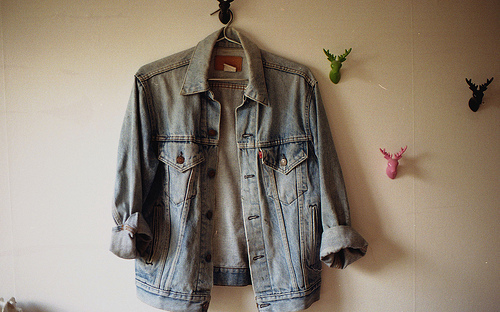 antlers, denim, denim coat, fashion, hipster