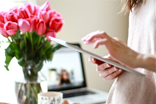 apple, flowers, home, inspiration, ipad