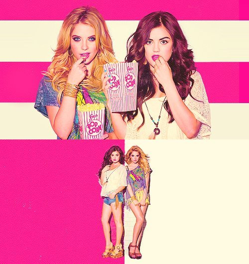 aria montgomery, ashley benson, hannah maron, lucy hale, pretty little liiars