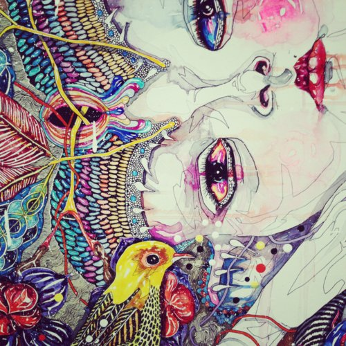 art, bird, colors, colours, creative, draw, paint, pretty