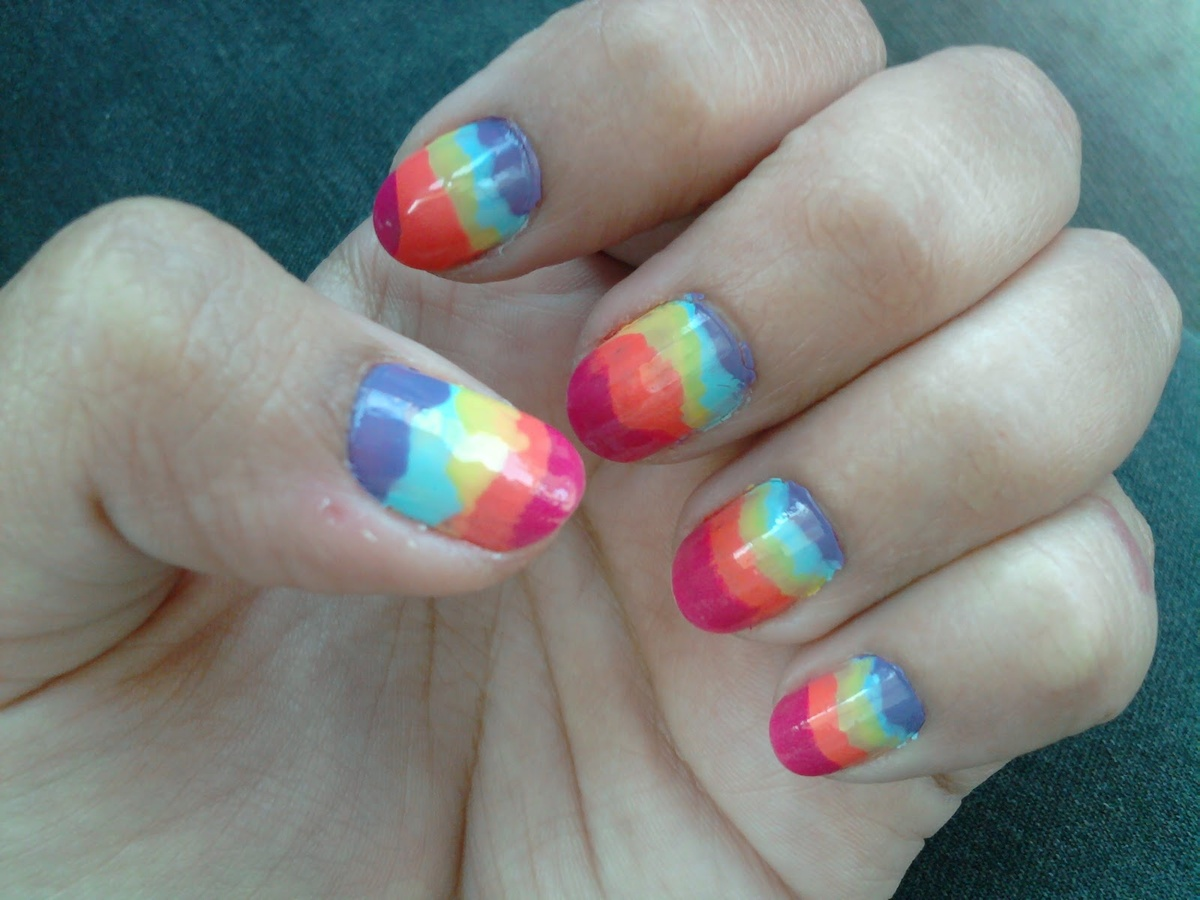 art, colors, nail, nail art, nail polish - image #443824 on Favim.com