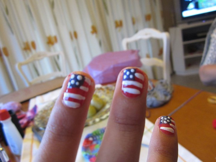 artist nails, artistic, beautifull, blue, falog of usa