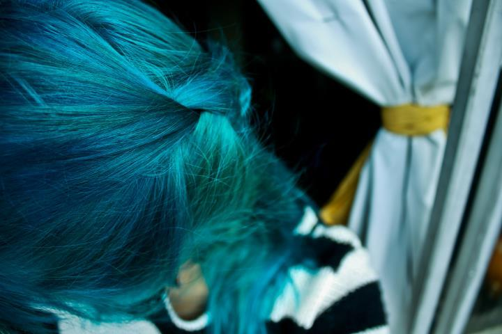 atlantic, blue, blue hair, girl, green
