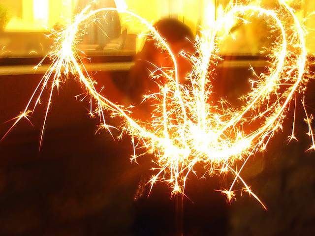 awesome, firework, heart, light, love