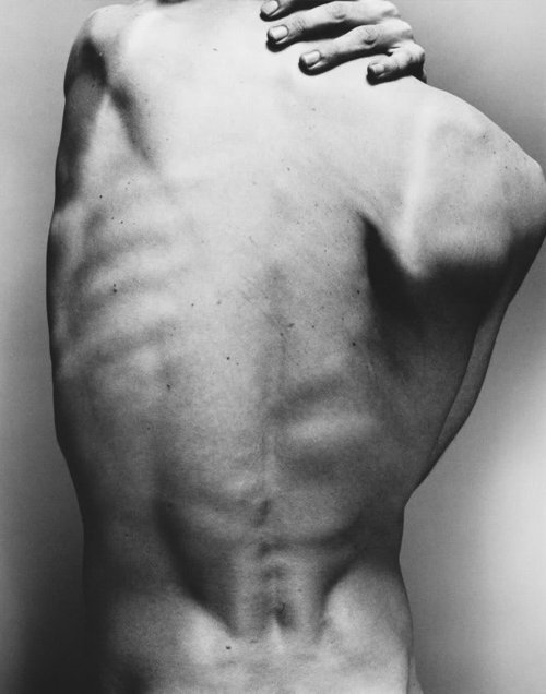 back, black and white, body, bones, brawn, hands, man, photography, placebo, ribs, skin