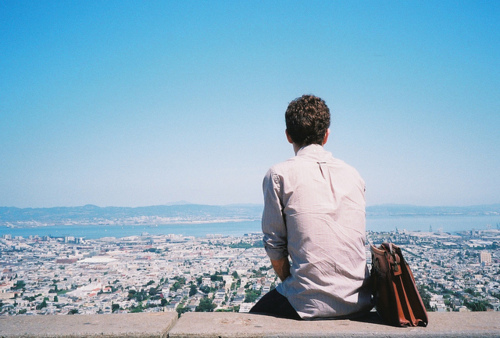 bag, boy, cute, greece, hair, hipster, indie, photography, shirt, summer, view