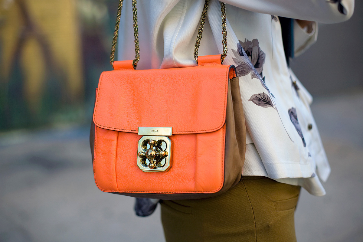 bag, chloe, fashion, orange, vogue