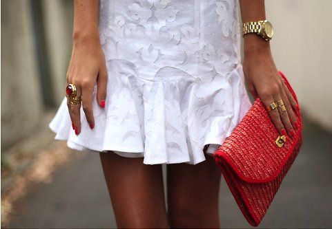 bag, dress, fashion, girl, nailpolish