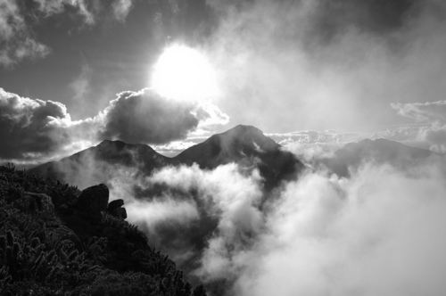 b&w, black & white, black and white, cloud, clouds, landscape, nature, photo, photography, sky, sun