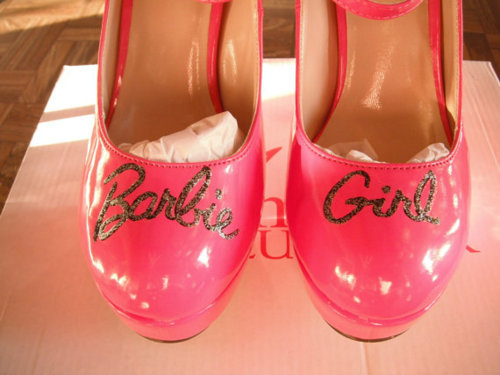 barbie, high heels, lips, pink, wow