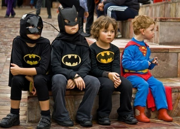 batman, boy, boys, cute, kid, superman