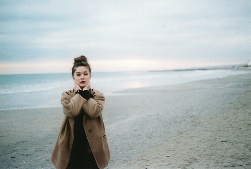 beach, bun, fashion, girl, hair, hipster, horizon, landscape, personal style, portrait, style, touch