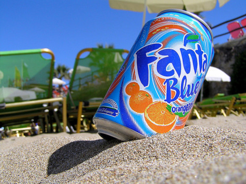 beach, drink, fanta, photography, sand, yum, yummy