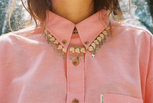 beads, collar, cross, cute, girl