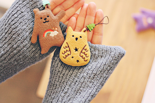 bear, bears, colorful, cute, hands, kawaii, owl, rainbow