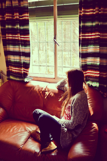 beautiful, bright, couch, girl, old