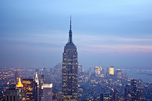 beautiful, city, lights, new york