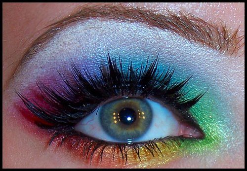 beautiful, colorful, eyes, make-up