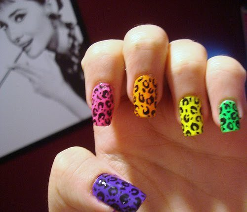 beautiful, colors, cute, green, nail, nail polish, nice, orange, pink, purple, yellow