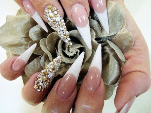 beauty, diamond, nails
