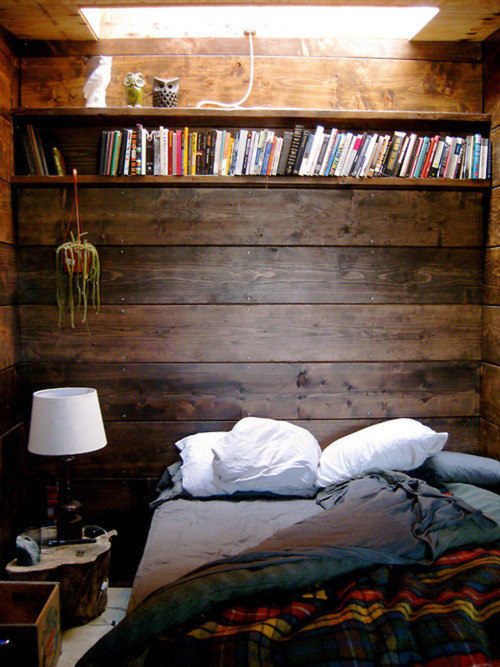 bed, bedroom, blanket, books, lamp