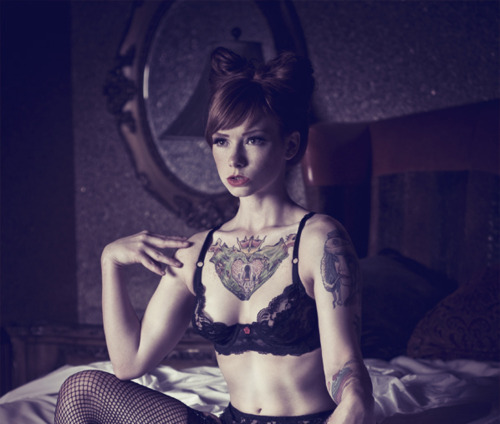 bed, hair, ink, interior, lingerie