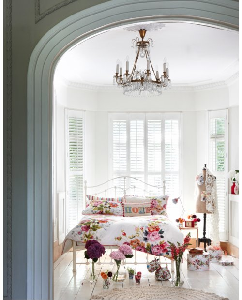 bed room, decor, flowers, giurly, home, house, pretty, room, white