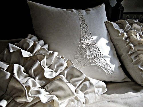 bedroom, paris, tower