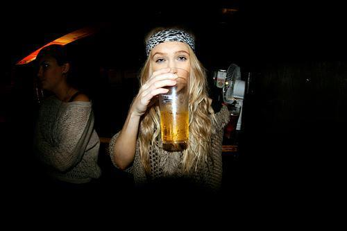 beer, blonde, girl