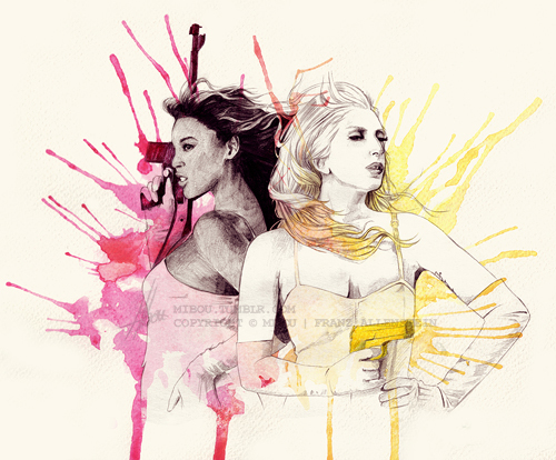 beyonce, lady gaga, video phone
