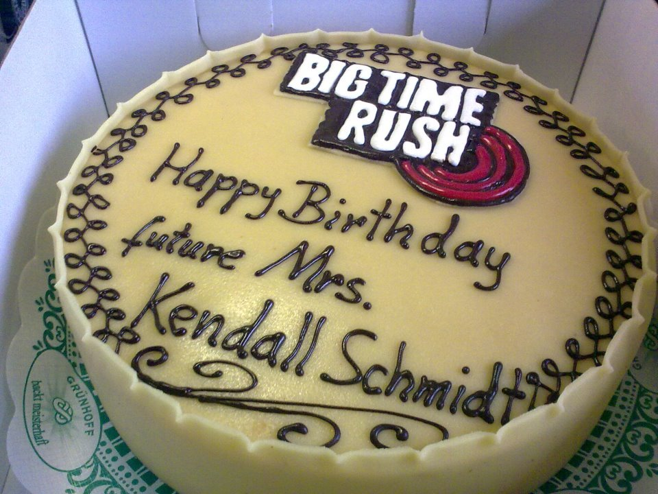 big time rush, birthday, birthday cake, kendall schmidt, rusher
