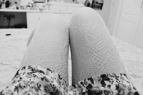black and white, cute, girl, legs, photography, room, vintage