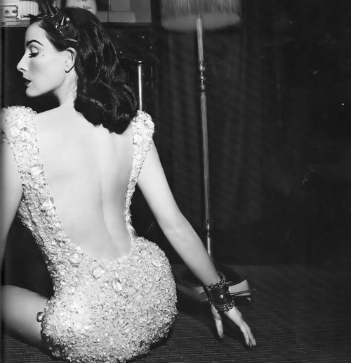 black and white, dita von teese, dress