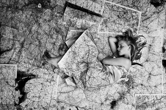 black and white, free, girl, maps, photogrphy