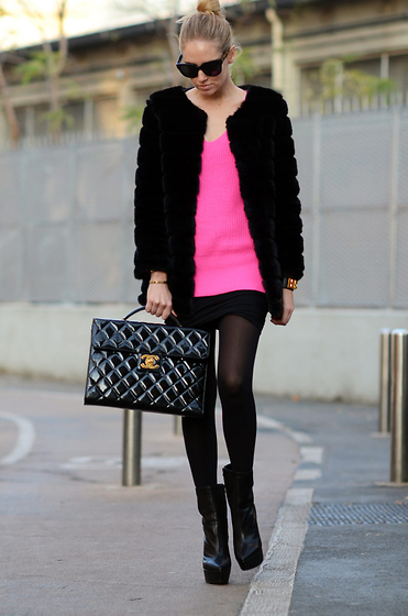 black, chanel, fashion, glasses, inspirationforme