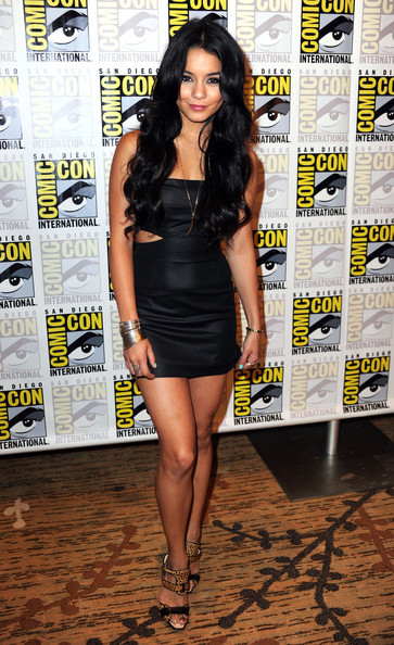 black dress, clothes, dress, fashion, hot, outfit, short dress, style, vanessa hudgens