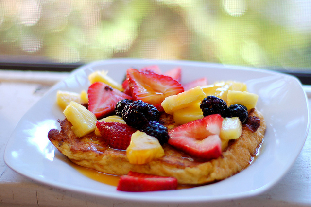 blackberries, bokeh, food, french toast, fruit