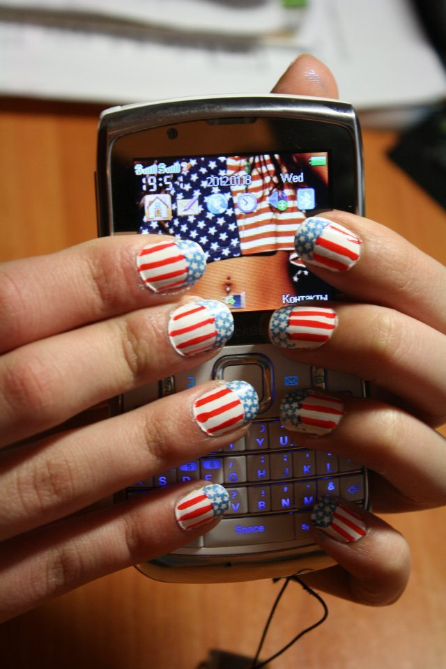 blackberry, flag, nails, stars, usa